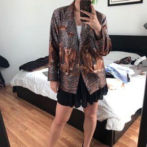 Metro High Fashion Silk Cat Blazer